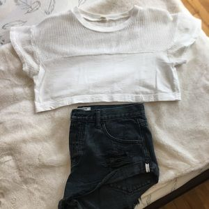 American apparel super cropped t shirt